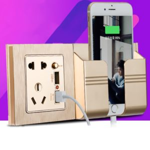 Phone Holder with Wall Socket & USB Port®