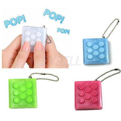 Flippy cha/îne Fidget Toy bougeotte cha/îne Keychain Keyring D/étensionnement cha/îne t/él/éphone Pendentifs Light Blue